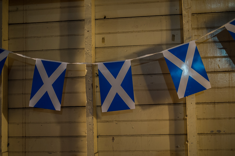 Scottish flag decorations